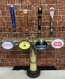 4 Way Vintage Brass Beer Pump/ Beer Font / Pub / Bar / Mancave / Guinness /