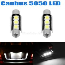 2x Error Free White LED License Plate Light Bulbs 3SMD Festoon 6418 C5W For BMW