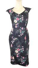 Marks & Spencer Per Una Black Floral Print Bodycon Dress