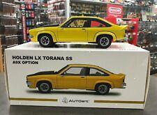 HOLDEN LX TORANA A9X HATCHBACK ABSINTH YELLOW 1:18 DIE CAST SCALE MODEL CAR