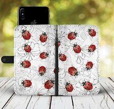 Ladybug Phone Wallet Case Ladybird Gift Idea For iPhone Samsung Xiaomi Huawei LG