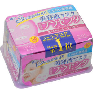 ☀Kose clear turn essence mask placenta 30 pieces Japan F/S