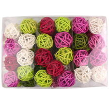 "Rattan Balls 5 Colors Mix, ""Summer Rose"" 5cm/30 PIECE!!!"
