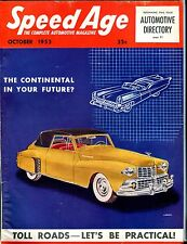 Speed Age Magazine October 1953 Continental VG No ML 051917nonjhe