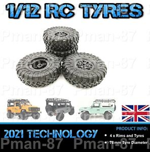 PREMIUM 1/12 Off Road Truck RC Wheel and Tire Tyre x 4 78mm WPL MN MN99s D90