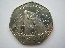 More details for isle of man 2004 copper nickel christmas fifty pence 50p a unc