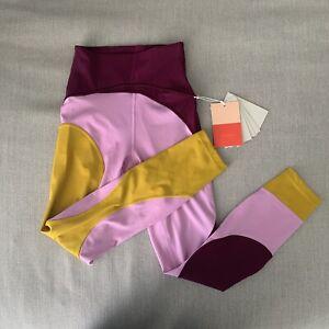 Lululemon X Roksanda Inner Expanse Tights Marvel/Candy Pink/Honeycomb Sz 4