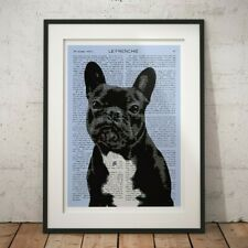 FRENCH BULLDOG POP ART DECOR DOG PUPPY FRENCHIE RETRO PRINT POSTER A1 A2 A3