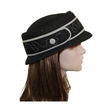 New Women's Winter Stylish Hat Cute Black Fashion Hat With Buckle Applique