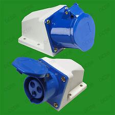 Outdoor Blue 16A 240V 3 Pin Industrial Caravan Socket IEC60309 CEE Commando IP44