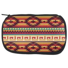 Native American Pattern Red Makeup Bag