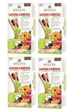 4 packs Hyleys Green Tea Garcia Cambogia 5 Flavor assortment, 25 tea bag/ pack
