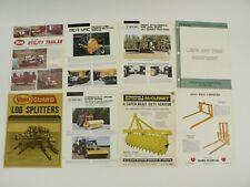 VTG Vann Log Splitters McClenny Aerator King Plow Co Ber Vac Ads Lot of 8