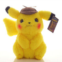 Anime Pokemon Detective Pikachu Plush Toy Doll Soft Stuffed Toy Kids Gift 11inch