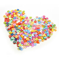 10mm DIY Plastic Buttons 6 Shapes Sewing Clothes Button Crafts ScrapbookingBDAU