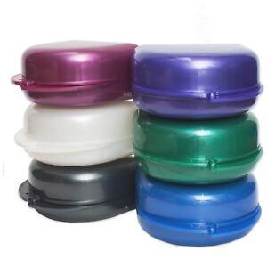 Retainer Case ~ Deep Gumshield Box, Denture Mouthguard Brace Dental Storage Case
