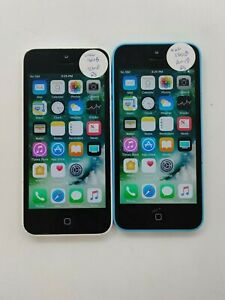 Lot of 2 Apple iPhone 5c A1532 16GB Unlocked Check IMEI Poor Condition LR-716