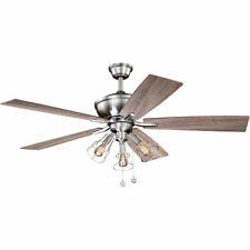 Vaxcel F0054 Clybourn Indoor Ceiling Fan Satin Nickel