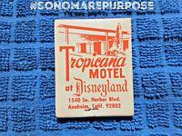 Vintage 1960's Tropicana Motel at Disneyland Matchbook, Anaheim Disneyland Motel