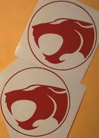 2x Thunder Cats Vinyl Decal Sticker Car Window Wall Bumper Computer Applique