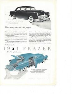 Two Vintage Ads for 1951 Frazer Autos - The Pride of Willow Run