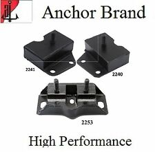 3 PCS FRONT MOTOR & TRANS MOUNT For 1967-1969 Ford RANCHERO 6.4L