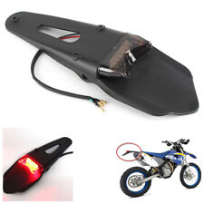 Universal Motorcycle Bike ABS Plastic Enduro Smoke LED Fender Brake Tail Light