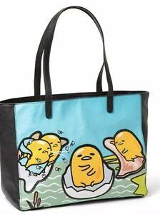 Loungefly Museum of Gudetama Lazy Egg Handbag Tote NEW