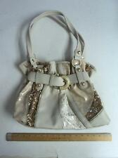 CUTE Cream & Gold Lace Hand Bag Purse w/ Sequins & Lace HandBag  * NEW *