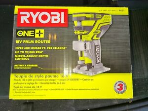 RYOBI 18V CORDLESS P601 FIXED BASE TRIM ROUTER ONE+ W/ COLLET WRENCH BRAND NEW