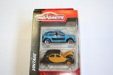 MAJORETTE 212052011-Vintage cars 2er Set-citroen c4 Cactus & 2cv (2.var)