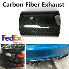 "2.7""Carbon Fiber Glossy Car Exhaust Pipe Tip For BMW M2 F87 M3 F80 M4 F82 F83 M5"