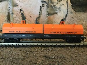 N scale Red caboose 100 ton coil car EJ&E ELGIN JOLIET EASTERN  mtl cplrs