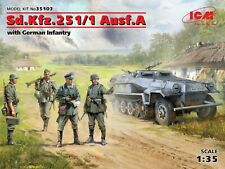 Sd.kfz.251/1 Ausf.a With German Infantry 1:35 Plastic Model Kit ICM