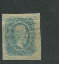 1863 Confederate States of America Postage Stamp #11 Mint Hinged Large Margins
