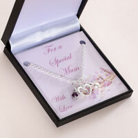 Gift for a Special Mum Necklace with Birthstone. Mothers Day Gift Jewellery
