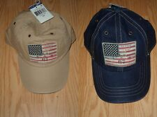 031d7c420468d POLO RALPH LAUREN LEATHER STRAP BASEBALL CAP HATS AMERICAN FLAG ONE SIZE