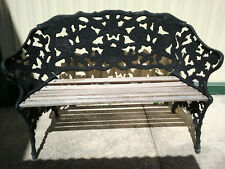 BEAUTIFUL VINTAGE ORNATE CAST IRON BENCH SEAT LOVE SEAT CHAIR