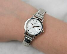 Spirit Ladies Faux Mother of Pearl Dial Expander/ Expanding Bracelet Watch Gift
