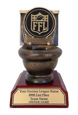 LAST PLACE FANTASY FOOTBALL TROPHY GAG TOILET BOWL COOL