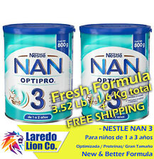 2 Latas De Nestlé NAN Optipro 3 Formula-Bote grande EA 800GR + Envío Gratis 75c9597ba4f99