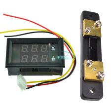 Digital LCD Current Power Meter Ammeter Voltmeter 50A 75mV Shunt Resistor Shunt