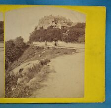 1860s Stereoview Photo Stirling Castle From Back Walk By Alexander Crowe