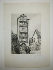 Henry CHEFFER - DOLDER à RIQUEWIHR - Gravure à l'eau-forte SIGNEE et numérotée