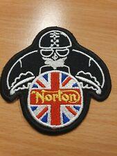 patch thermocollant brodé moto norton personnage L7,5 cm H8cm