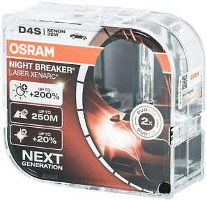2x Osram D4S Night Breaker Laser Xenon headlight bulbs Xenarc Car HID light HID