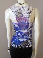 Rue21 Crochet Cutout Lace Back Sublimation Tank Top sz S