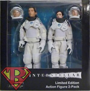 "INTERSTELLAR Cooper & Amelia Brand Clothed 8"" inch Acton Figure 2-pack Neca 2015"