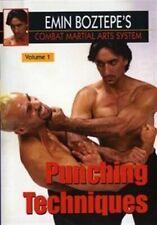 Combat Martial Arts #1 Punching Techniques Dvd Emin Boztepe wing chun escrima