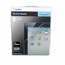 BELKIN SCREEN PROTECTOR FOR IPAD 4 3 2 CLEAR TRANSPARENT TRUCLEAR 1 PK F8N798CW